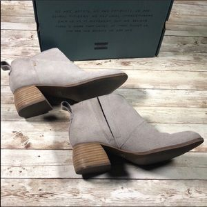 Toms Leilani Suede Booties with box